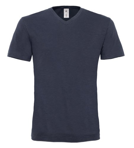 BCTM037 T-Shirt Mick Slub / Men Chic Navy