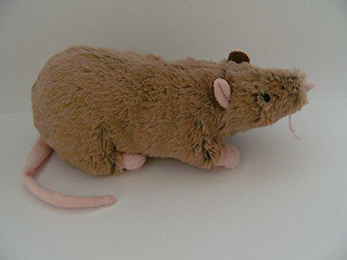m +17 cm Schwanz, beige Kuscheltier, Plüschtier, Ratten, Maus ()