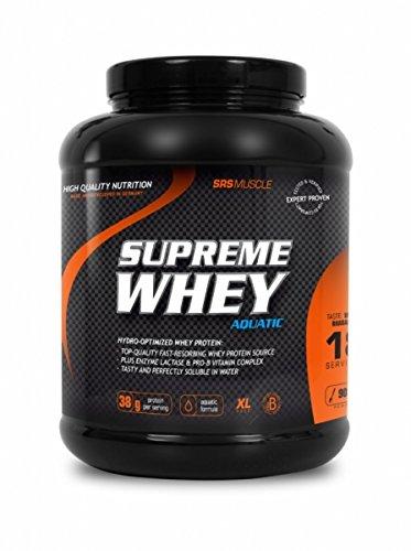 SRS Muscle - Supreme Whey XL, 900 g, Vanille   Hydro-optimized Whey Protein   mit Enzym Laktase und Pro-B Vitaminen   aspartamfrei   deutsche Premiumqualität