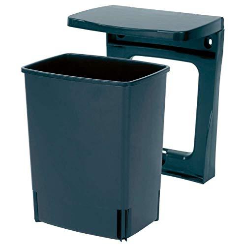 Brabantia 395246 - Cubo interior de plástico, 10 litros, color negro, acero inoxidable