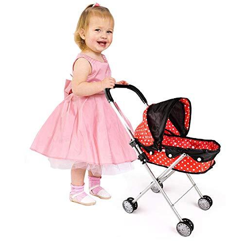 Huaqiang Puppe Kinderwagen Puppe Trolley Spielzeug Baby Spielzeug Simuliert Für Barbie Kinderwagen Kinderwagen , Faltbarer Indoor Outdoor-Einsatz , Kinder Spielzeug Geschenk