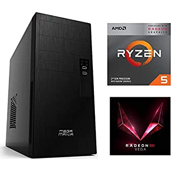 PC MEGAMANIA Ordenador SOBREMESA RYZEN 5 2400G Quad Core Turbo 3.9 ...