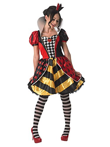 KULTFAKTOR GmbH Disney Alice im Wunderland Herzkönigin Damenkostüm Lizenzware bunt S (Disney Alice Im Wunderland Herzkönigin Kostüm)