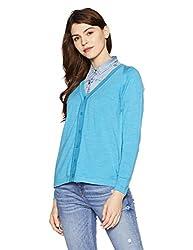 Monte Carlo Womens Wool Cardigan (1170709VN-2365-38_Ferozi)