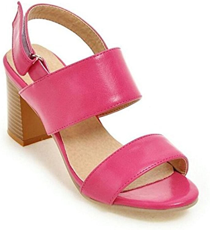 Donne scarpette dopo il viaggio aperte in punta punta punta dei sandali a tacco alto Pompe , rosa rosso , 37   caratteristica  dd66eb