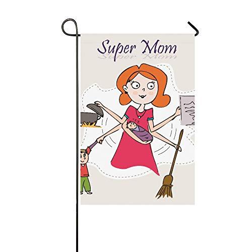 (JSXMNA Dekorative Doppelseitige Mehrzweck-Geburtstagskarte für Mutter/Muttertag, für den Garten, 30,5 x 45,7 cm)
