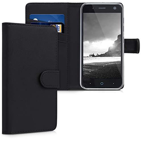 kwmobile ZTE Blade V8 Mini Hülle - Kunstleder Wallet Case für ZTE Blade V8 Mini mit Kartenfächern und Stand