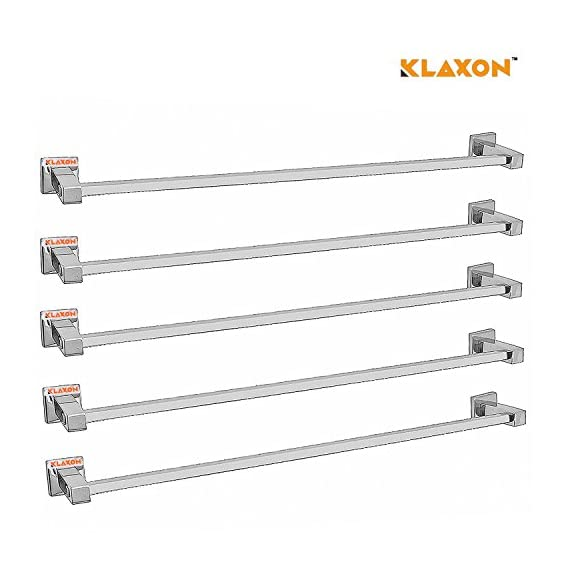 Klaxon Kristal 103 Stainless Steel Towel Holder (Silver, Pack of 5)