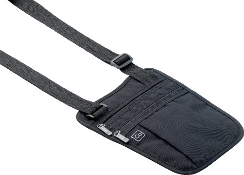 Go Travel Security Shoulder Wallet - Go 616 (Supplied in black or beige) - Bottle Holder Cintura