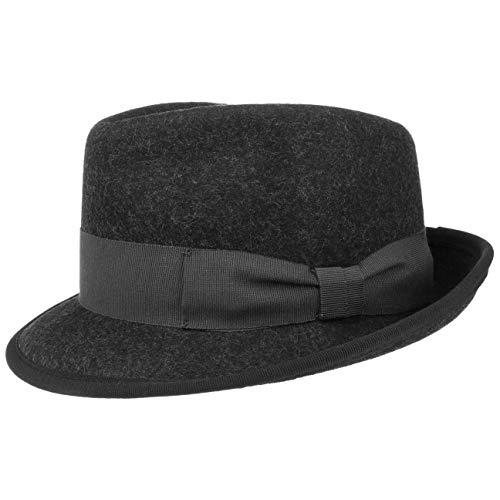 Lipodo Classic Wool Trilby Filzhut Damen/Herren | Wollhut Made in Italy | Hut aus Wollfilz | Trilbyhut Sommer/Winter | Fedora anthrazit S (54-55 cm)