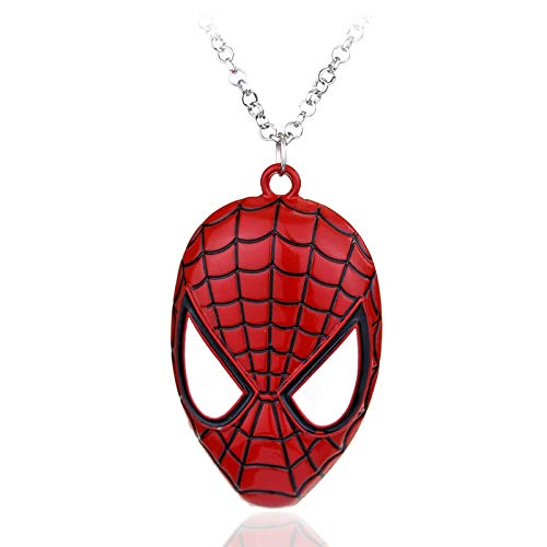 Super Hero Spiderman Pendant Necklace Spiderman Fashion Punk Jewelry For Boy Man Kid Party Favors Statement Necklace (Kostüme Super Male Hero)