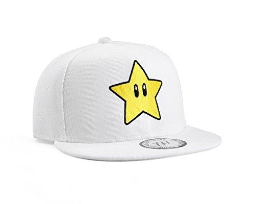 Underground Kulture Super Mario Star / étoile Casquette de Baseball Réglable (White)
