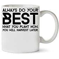 Always Do Your Best Og Mandino Motivation Inspiration Quite Slogan Taza para Café y Té