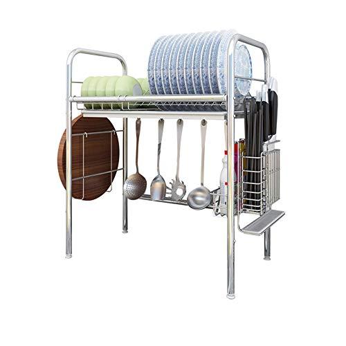 Dish drainer rack Escurreplatos para Platos escurridor de Acero Inoxidable Fregadero de Cocina Fregadero de múltiples Funciones Estante de Secado para un Solo Fregadero