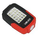 VBLED® Universal Taschenlampe mit 20 + 3 LEDs, Magnet-Halterung und Haltebügel zum Einsatz als Arbeitsleuchte, inklusive 3 x Batterien