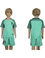 20162017Portugal Away für Kinder Kid Jugend Fußball Soccer passt Jersey in Grün