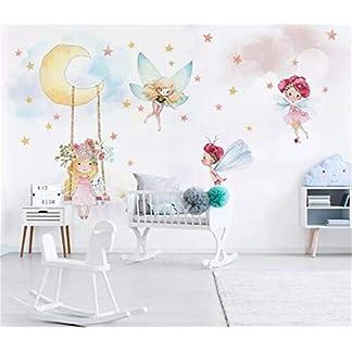 SKTYEE Wallpapers Moderno 3D personalizado Foto infantil Mural Papel pintado Fantasy Elf Respetuoso del medio ambiente No tejido Para niñas Bebé Habitación de niños, 200×140 cm (78.7 por 55.1 pulg.)