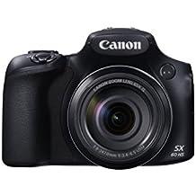Canon PowerShot SX60 HS Fotocamera Compatta Digitale, 16 Megapixel, Nero/Antracite