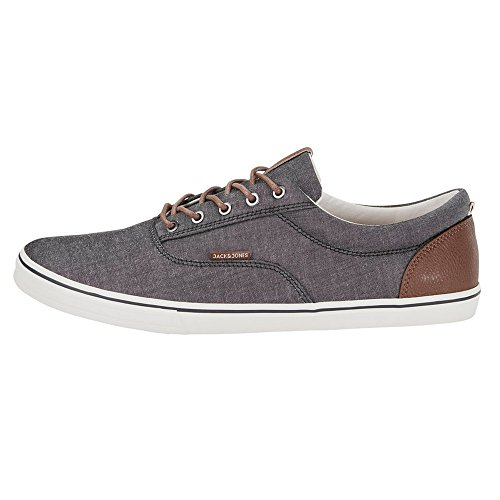 Jack-Jones-Jfwvision-Chambray-Mix-SS-Anthracite-Zapatillas-para-Hombre