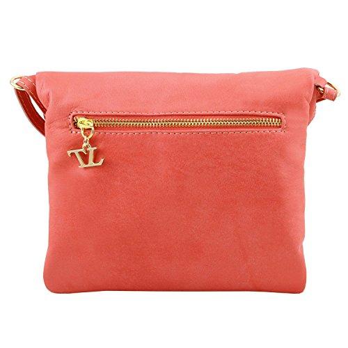 Tuscany Leather - TL Young Bag - Borsa a tracolla con nappa - TL141153 (Magenta) Nero
