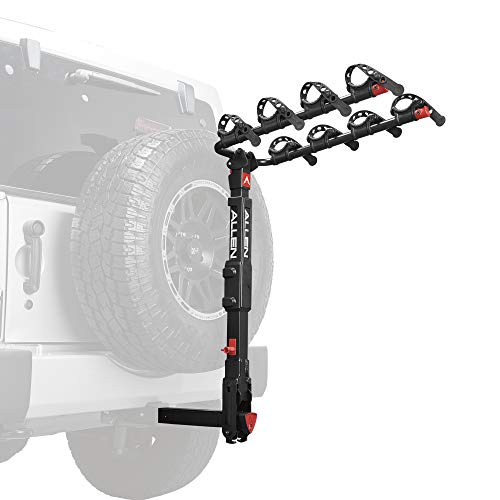 k Release 4-Bike Carrier for 2 in. Hitch on Vehicles with Spare tire ()