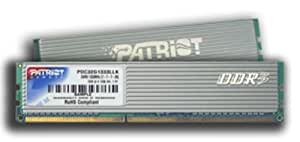 Patriot PDC32G1333LLK DDR3 EP 2 Go Kit PC3-10666 1333MHz 7-7-7-20 bas latence Non-ECC Unbuffered 240 broches DIMM