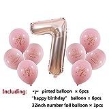 LBZDR Ballon 1 2 3 4 5 6 7 8 9 Jahre alt Alles Gute zum Geburtstag Ballon Kinder 1. Geburtstag Ballon Anzahl Folienballon rosa Mädchen blau Junge Hochzeit Geburtstag Weihnachten Fest, G