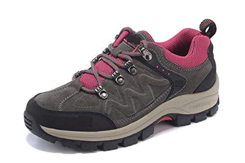 Adong Mens Wanderstiefel Bergsteigen Boot Kletterschuhe Wasserdichte Schuhe Nicht Slip Breathable Outdoor-Schuhe,B,40EU