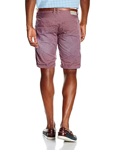 Tom Tailor Colored Twill Bermuda, Pantaloncini Uomo Rosa (dusty orchid mauve 4690)