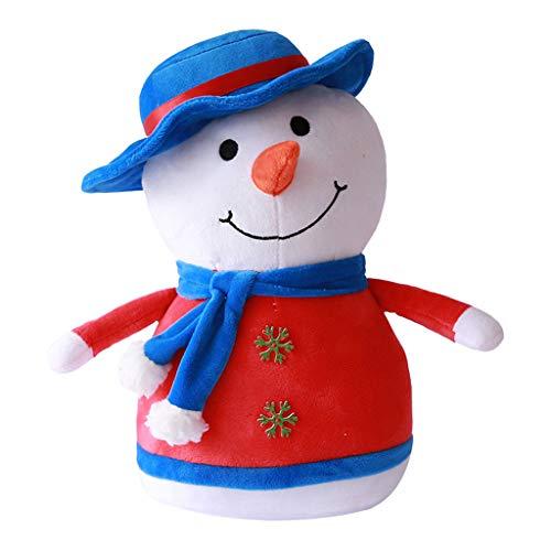 Eternali Weihnachtsmann Puppe Kids Mädchen Jungen Weihnachten Spielzeug Schlafzimmer Kindergarten Weihnachtsschmuck Weihnachtsdeko Pinguin Schneemann Rentier Toy