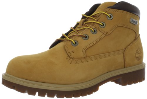 Timberland Mens New Market Camp Leather Boots Wheat