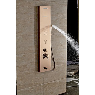 GANTA Miller sanitary stainless steel five etched integrated shower screen copper cold shower set