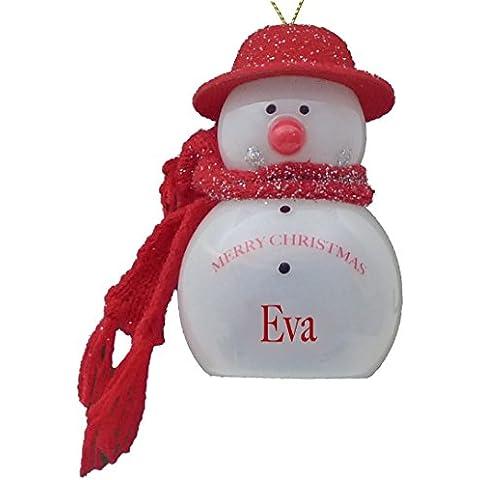 Eva intermitente de muñeco de nieve