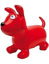 """Hüpftier Hüpfhund """"Bodo"""" aus robustem Kunststoff, fördert den Gleichgewichtssinn, für drinnen und draußen geeignet, ein süßes Hündchen für Kinder ab 3 Jahren"""