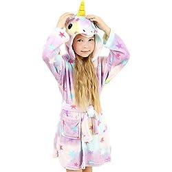 wgde toy Jouets pour Filles de 4-5 Ans, Douce Licorne Peignoir à Capuchon Vêtements de Nuit pour Enfants Licorne Jouets pour Filles de 4-5 Ans Cadeaux de Licorne pour Filles de 4-5 Ans
