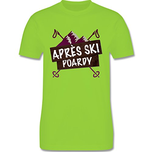 Après Ski - Après Ski Poardy Vintage - Herren Premium T-Shirt Hellgrün