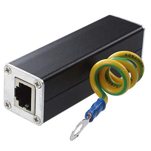 Peanutaoc Ethernet Blitz Überspannungsschutz PoE + Gigabit 1000Mbs CAT5 CAT6 RJ45 zu RJ45 Adapter Netzwerkschutzgerät