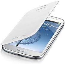 Samsung Flip - Funda para móvil Galaxy Grand (Permite hablar con la tapa cerrada, sustituye a la tapa trasera), color blanco
