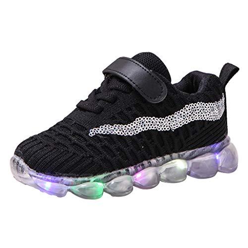 Unisex Bambino LED Scarpe Bling ha Condotto Le Scarpe Casuali Luminose di Sport di Funzionamento