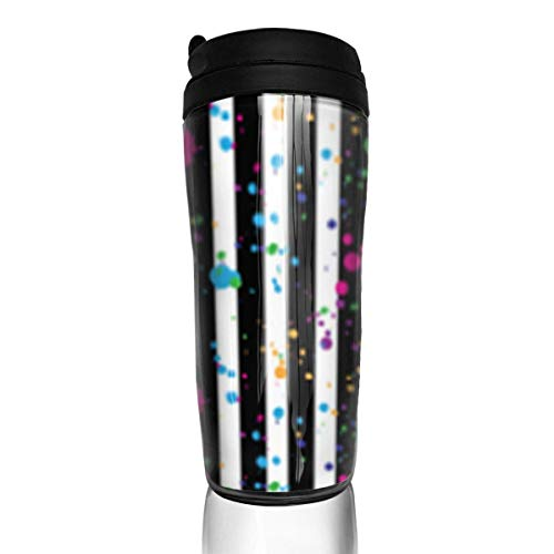 Travel Coffee Mug Neon Rainbow 12 Oz Spill Proof Flip Lid Water Bottle Environmental Protection Material ABS