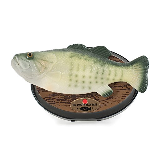Big Mouth Billy Bass - Der singende & tanzende Fisch ca 28 cm (Don't worry be happy & I'll survive) (Takt Bewegung 1 4)