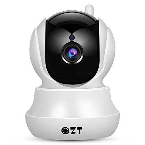 IP Camera, QZT Wireless Home Security 720P HD Wifi Camera With Pan/Tilt,Two-Way Audio,Night Vision,Motion Detection,Email Alarm, Micro SD Recording for IOS, Android and Windows PC Remote View