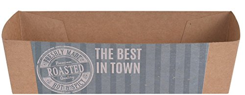Grillwurst Hot Dog Schalen aus Papier Einweg Hygienisch für Imbiss Gartenparty Geburtstagsparty Farbe: Grün ()