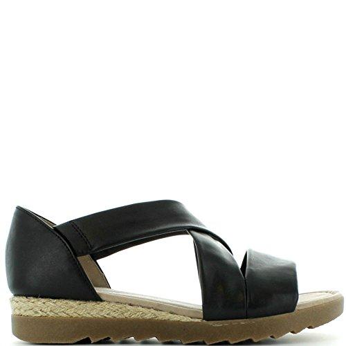 Gabor Shoes 62.711, Sandali Donna 29 Schwarz(Jute/Ambr