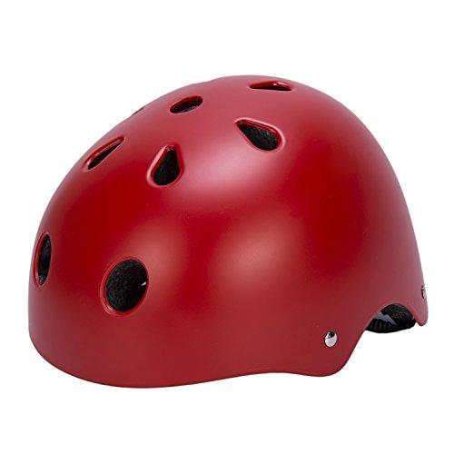 Babimax Fahrradhelm Schutzhelm Rot Erwachsene EPS PC 11 Löcher Radsport Outdoor Mountainbike