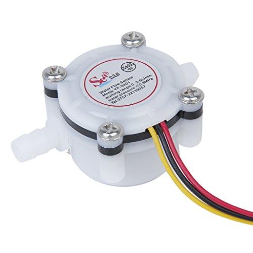 Sharplace Wasserdurchfluss Sensor Schalter Meter Durchflussmesser Kaffeeautomat Gegen Fluid Steuer 0.3-6L/min 5.8 x 3.4 x 2.7cm (Steuern Fluid)