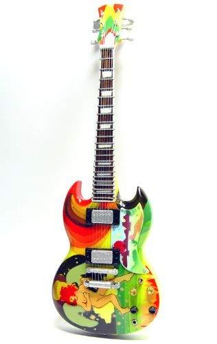Mini Gitarre CREAM ERIC CLAPTON PSYCHEDELISCHER SG Anzeige GESCHENK - Psychedelische Mini
