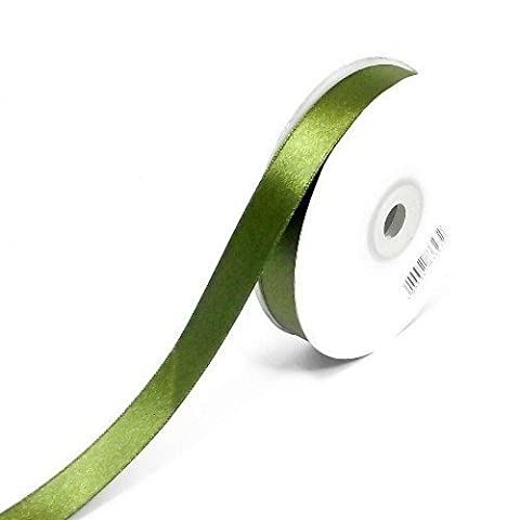 Moss Green Double Sided Satin Ribbon 38mm x 10 Metres - (Full Roll) Woven Edged (Tessuto Raso Verde)