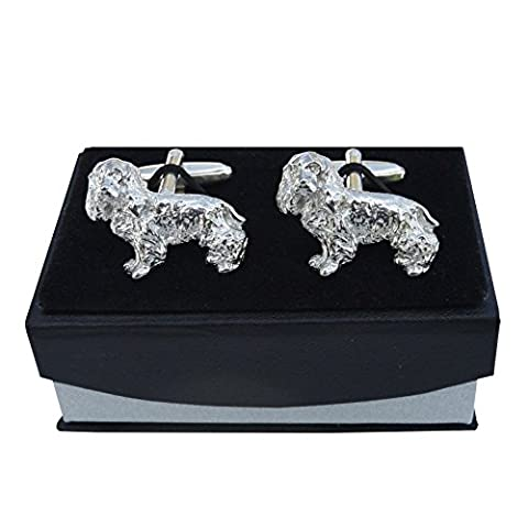 Luxury Fine Pewter Cocker Spaniel Cufflinks, Handcast by William Sturt