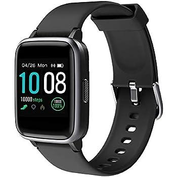 GRDE Smartwatch, Reloj Inteligente Bluetooth V5.0 Pulsera Deportivo Hombre Mujer impermeable 5ATM con Pantalla Completa Táctil Monitor de Ritmo ...